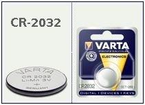 Batteria bottone Litio 3 Volt CR2032