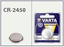 Batteria bottone Litio 3 Volt CR2450
