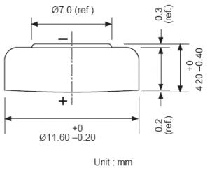 Batteria bottone Ossido Argento GP 301-386