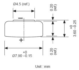 Batteria bottone Ossido Argento 384-392