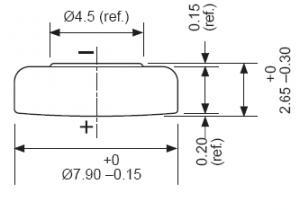 Batteria bottone Ossido Argento  396-397