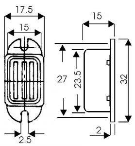 Buzzer stato solido 12 volt  CC