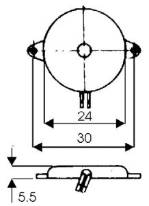 Capsula piezo passiva diametro 50mm