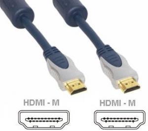 Cavetto Professional dorato HDMI--HDMI 4K 5Mt con Ethernet 3D