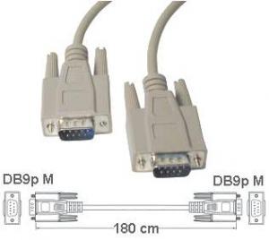 Cavo di collegamento DB 9 poli  Maschio/Maschio  1.8 Mt