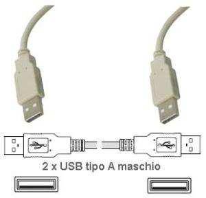 Cavo di  Collegamento  USB 2.0  A/A  1.5  MT   M/M