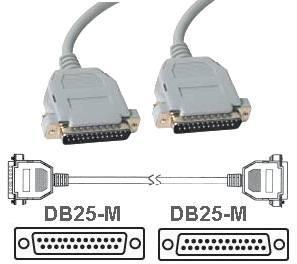 Cavo di collegamento DB 25 poli Maschio/Maschio 2 Mt