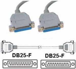 Cavo seriale DB 25  poli Femmina/femmina 1.5 Mt