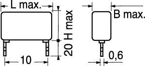 Condensatore Poliestere MKT P10 1.000 PF 1000 Volt 10%