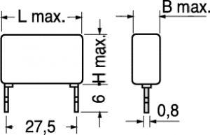 Condensatore Poliestere MKT P27,5 470.000 PF 630 Volt 10%