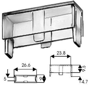 Coprifusibile plastica trasparente  per portafus. 5x20 per CF1910