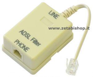 Filtro ADSL  I/O RJ 11