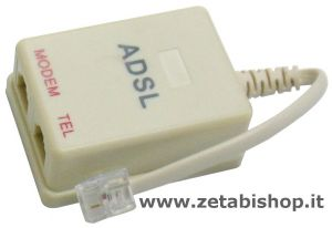 Filtro ADSL 2 in1  out RJ 11
