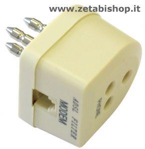 Filtro ADSL con spina tripolare