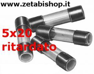 Fusibile Ritardato 5x20  250 Volt  800  mA/A   serie  ST(10pz)