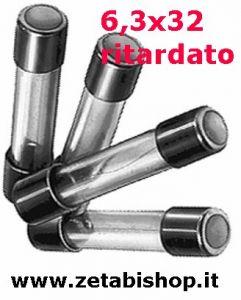 Fusibile Ritardato6,3x32 250 Volt  100 mA/A   serie  CT(10Pz)
