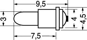 Lampadine a filamento 12 volt  AC/DC   0,6 A