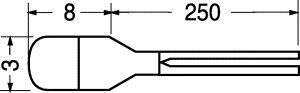 Lampadine Miniatura con fili  12 volt  100  mA/A   D 3 mm