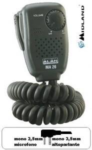 Microfono Altoparlante Midland MA 26 L 90°