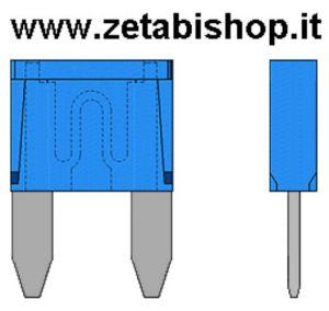 MiniFusibile Bilama 15 A  32 volt  azzurro