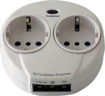 Multipresa con protezione linea telefonica