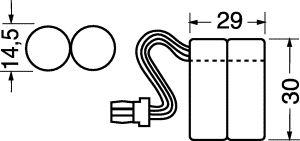 Pacco Batteria NI-CD GP 2.4 volt 300  mha Tre fili cordl