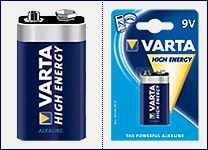 Pila alkalina 9 volt Varta
