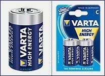 Pila alkalina 1.5volt serie  C  Varta  (2 pz) 1/2 torcia