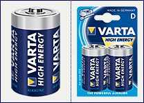 Pila alkalina 1.5volt serie  D Varta  (2 pz)  Torcia