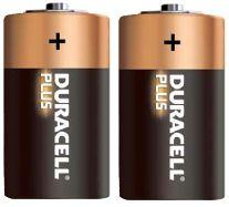 Pila alkalina 1.5volt serie C Duracell (2 pz) 1/2 Torcia