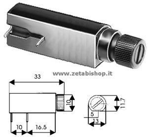 Portafusibile C.S. orizzontale  5x20 6 A 250 Voltl