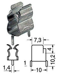 Portafusibile  C.S. verticale  6x30  in clip  20 A  220 volt