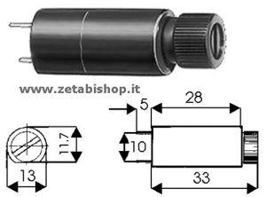 Portafusibile C.S. verticale 5x20 6 A 250 Volt