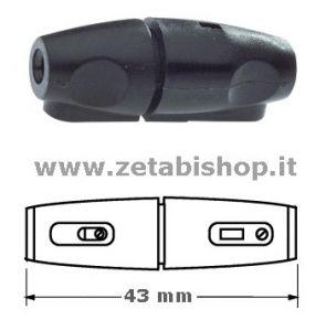 Portafusibile volante 5x20 10A 250 Volt  nero