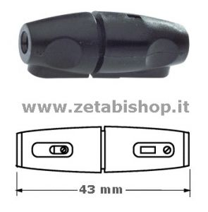 Portafusibile  volante  5x20  10 A 250 Volt  nero