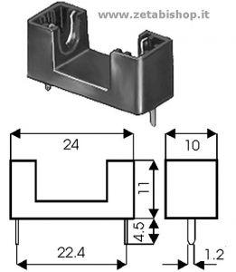 Portafusibile per C.S. 5x20   4 A 250 volt