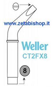 Punta Weller CT2FX8  x W-200 54251899  10 mm