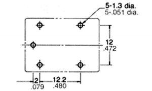 Relè Miniatura tenuta stagna 1 Sc 6 A 24 volt  NAIS