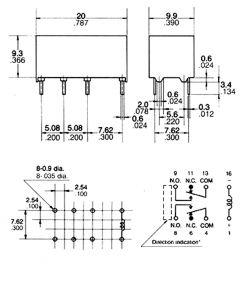 Relè Ultraminiaturizzato C.S.2Sc.6 volt 1A
