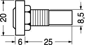 Segnalatore Luminoso 12 V.rosso con fili
