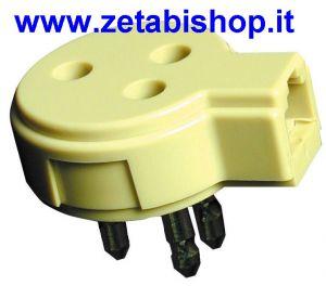 Spina  Presa Telefonica  3 poli  con plug 4c