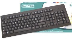 Tastiera  USB/PS2 EM3108 nera