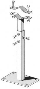 Z356 Zanca Regolabile senza rinforzo 50 Cm