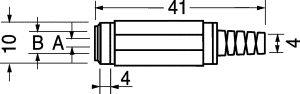 Spina coassiale volante  4,4x1,65