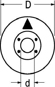 Indice nero con freccia per manopola D 15