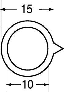 Indice nero per manopola D 15