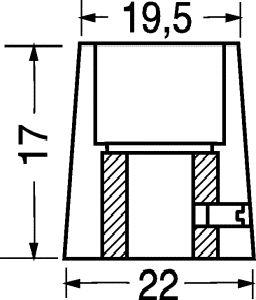 Manopola componibile con bussola D 22  (solo corpo)