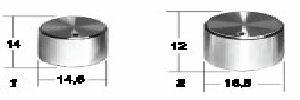 Manopola con capsula diamante perno  6 mm  D 14,5 a vite