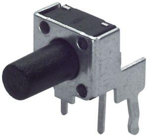 Pulsante Miniatura C.S. 20 mA 15 Vdc  6x6x9,5 H 90°