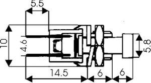 Pulsante Unipolare in miniatura N.A 1A-125 Vca rosso